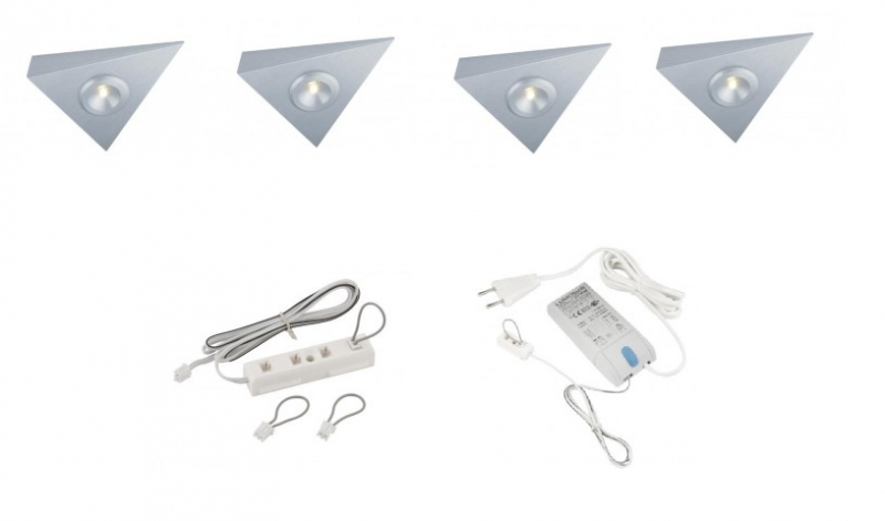 Lumoluce | Lugano | LED driehoek | 4 LED spots | Doe Zelf LED Kit | Warm Wit