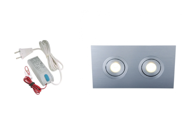 Lumoluce | Luzern | LED inbouwspot | 2 LED spots | 210Lm | Doe Het Zelf LED Kit | Warm Wi