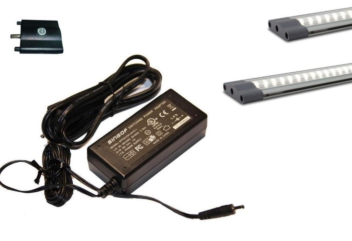 LED Strip set | Plat | Type FLAT LO WIDE | 150cm (50+100) | Warm Wit | 18W | met dimm