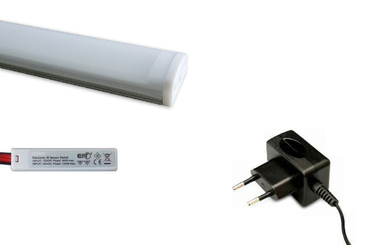 LED Lade set | Type Milky | 30cm | Warm Wit | 4W | 12V | met Ladeschakelaar