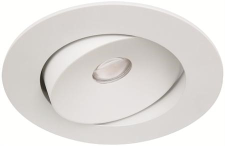Malmbergs | LED inbouwspot | 1 LEDs | Rond | 10W | Warm Wit (2700k) | Wit | MD-96