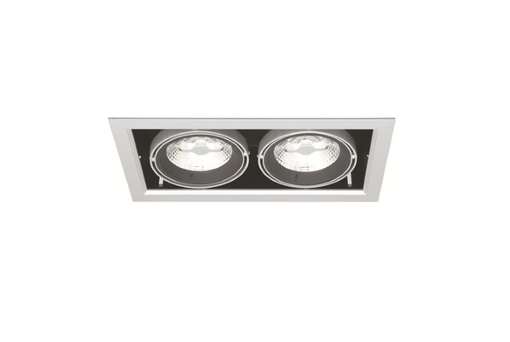 Dubbele LED Downlight | 220V | 2 x 10W | Warm Wit | MD-250