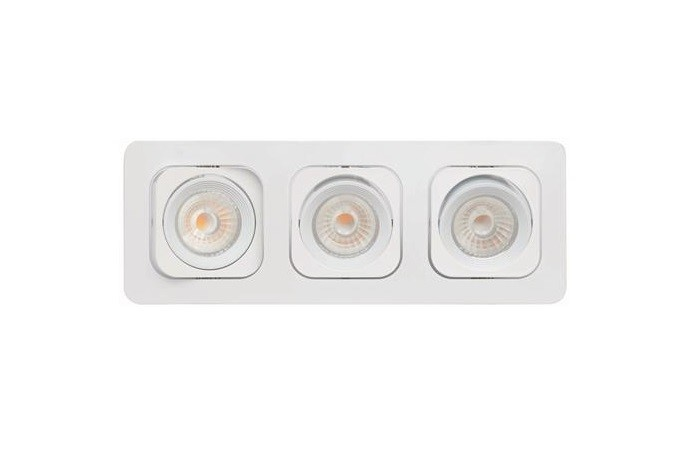 Malmbergs | LED inbouwspot | 3 LEDs | Rond | 3 x 6W | Warm Wit (2700k) | Wit | MD-125