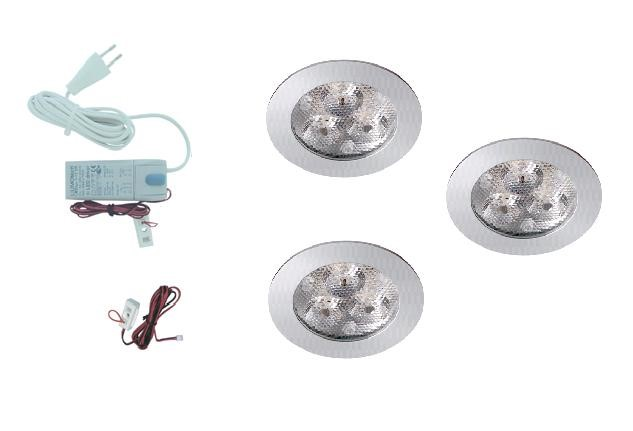 LED inbouwspot | 3 LED spots | 210Lm | Doe Het Zelf LED Kit | Warm Wit | 302A