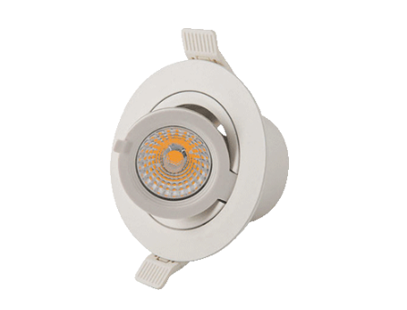 Interlight | Camita | LED inbouwspot | 1 LED spots | 500Lm | 7W | Extra Warm Wit