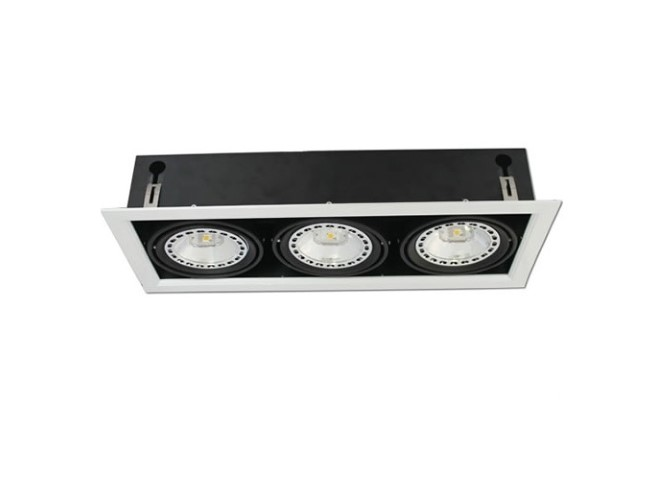 Driedubbele Downlight | Legehuis | 450 x 145