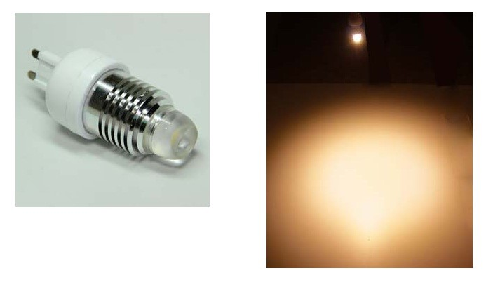 LED steeklampje | 220V | 1 Power LED | 3W | VV 25W | Warm