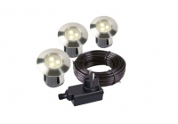 Garden Lights - Grundleuchten Birch (3000K | 0,5W | 10lm | 12V | 45x40mm) Kit 3 Stück