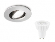 LED inbouwspot | 1 LED spot GU10 | 4W | 280Lm | Warm Wit |