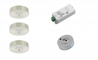 Klemko | Lumiko | LED op / inbouwspot | 3 LED spots | Doe Zelf LED Kit | Warm Wit | RF Dim