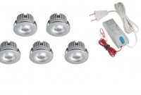 LED inbouwspot | 5 LED spots | 80Lm | Doe Het Zelf LED Kit | Warm Wit | 2320