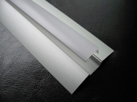 LED Profiel FLAT | RAL 9010 | Frosted, PC, UV Bestendig | 1M