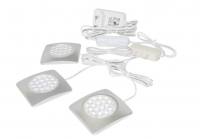 LED Kastverlichting set | 3 Lampjes | 3 x 1,5W | Vierkant