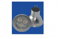 LED steeklampje | 12V | 3 LED | 3W | VV 20W | Extra Warm Wit | GU4 | MR11 | 30 grade