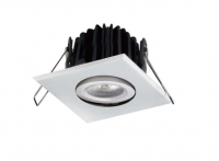 LED inbouwspot | 1 LEDs | Vierkant | 8W | Warm Wit | Goud | IP54