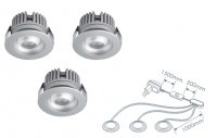 LED inbouwspot | 3 LED spots | 80Lm | Doe Het Zelf LED Kit | Warm Wit | 2320