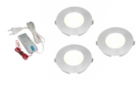 Lumoluce | LED inbouwspot | 3 LED spots | 180Lm | Doe Het Zelf LED Kit | Warm Wit | SlimL