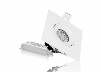 LED inbouwspot | 10 LEDs | Vierkant | 10W | Warm Wit