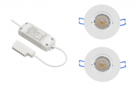 BudgetLine | LED inbouwspot | 2 LED spots | 240Lm | Doe Het Zelf LED Kit | Warm Wit | Ron